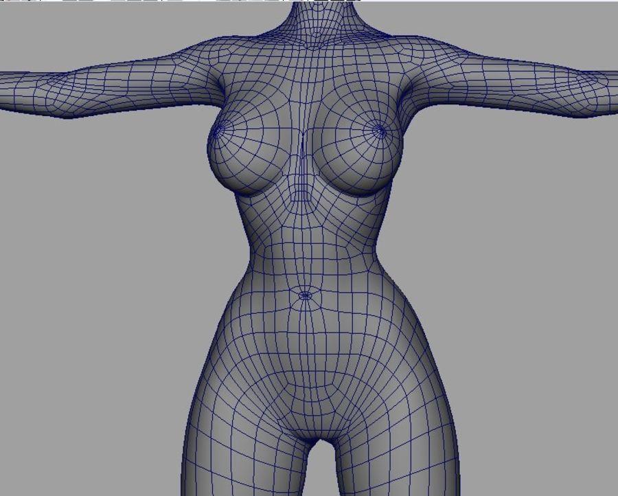 Girl in bikini royalty-free 3d model - Preview no. 15