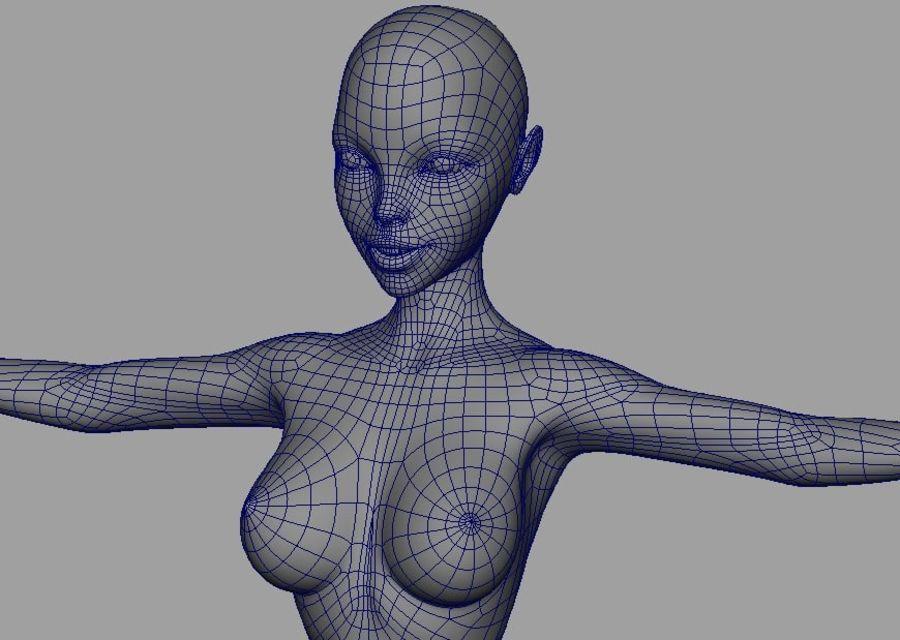 Girl in bikini royalty-free 3d model - Preview no. 21