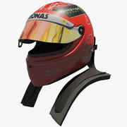 Casco Michael Schumacher 2012 3d model