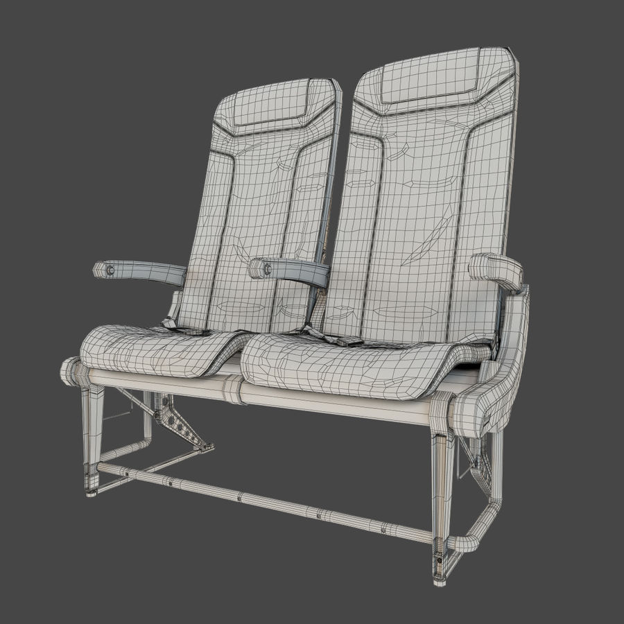 Recaro BL3520 Seat royalty-free 3d model - Preview no. 11