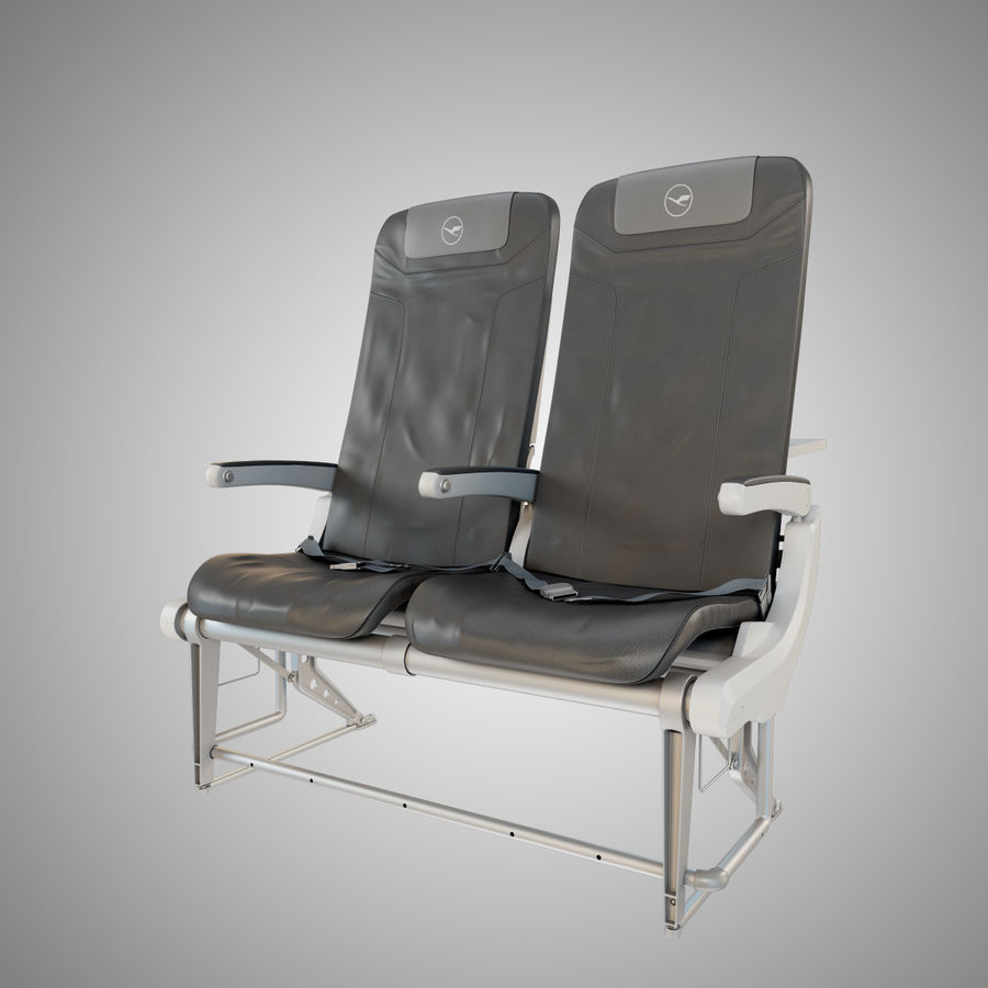 Recaro BL3520 Seat royalty-free 3d model - Preview no. 2