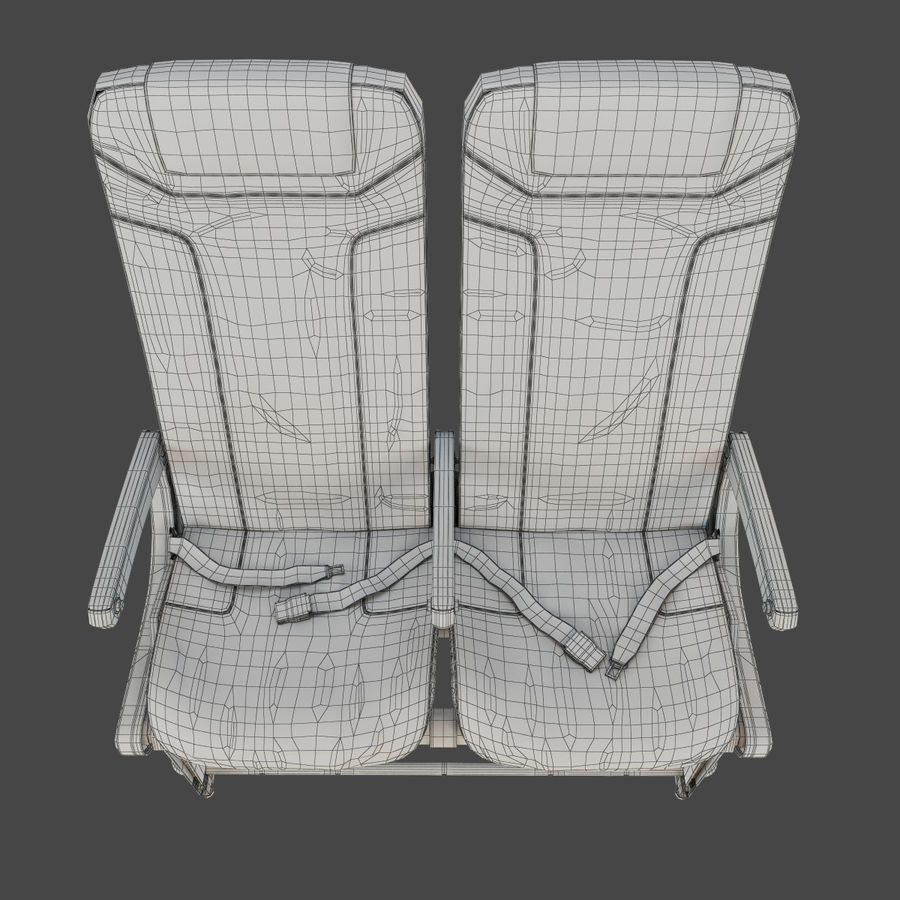 Recaro BL3520 Seat royalty-free 3d model - Preview no. 13