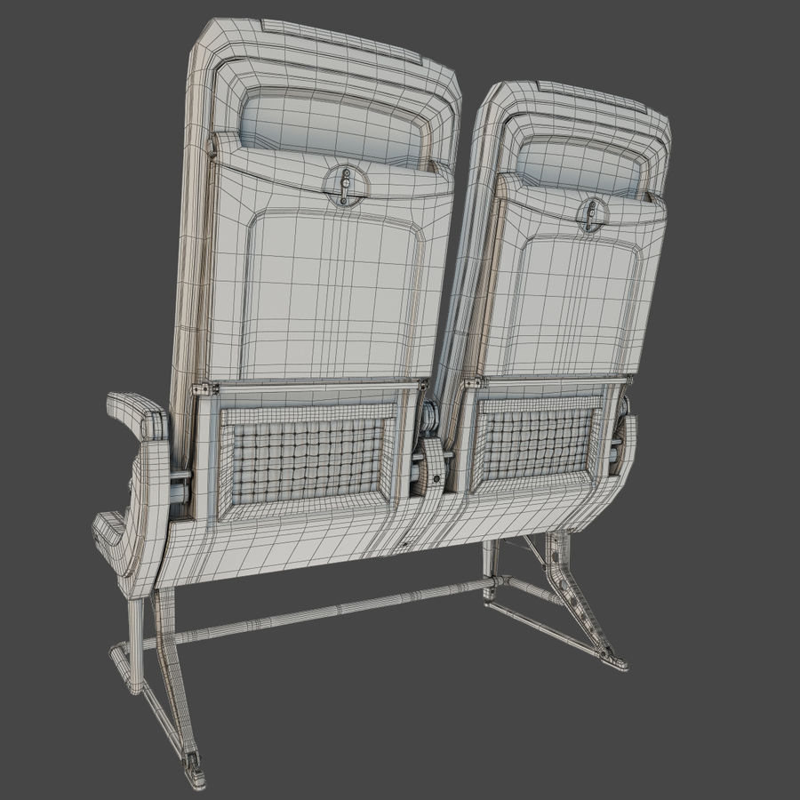 Recaro BL3520 Seat royalty-free 3d model - Preview no. 12