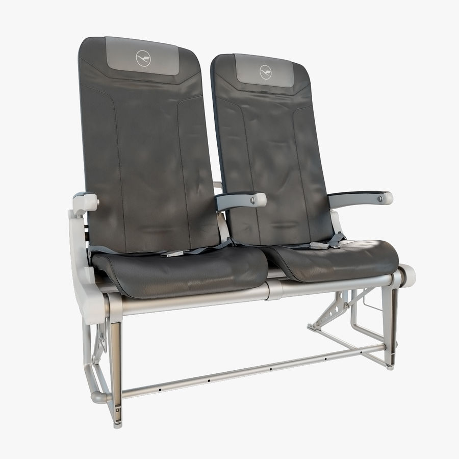 Recaro BL3520 Seat royalty-free 3d model - Preview no. 3