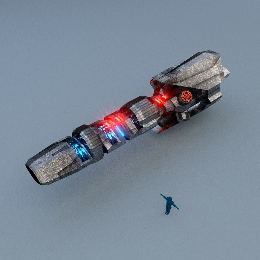 Laser pulse cannon royalty-free 3d model - Preview no. 2