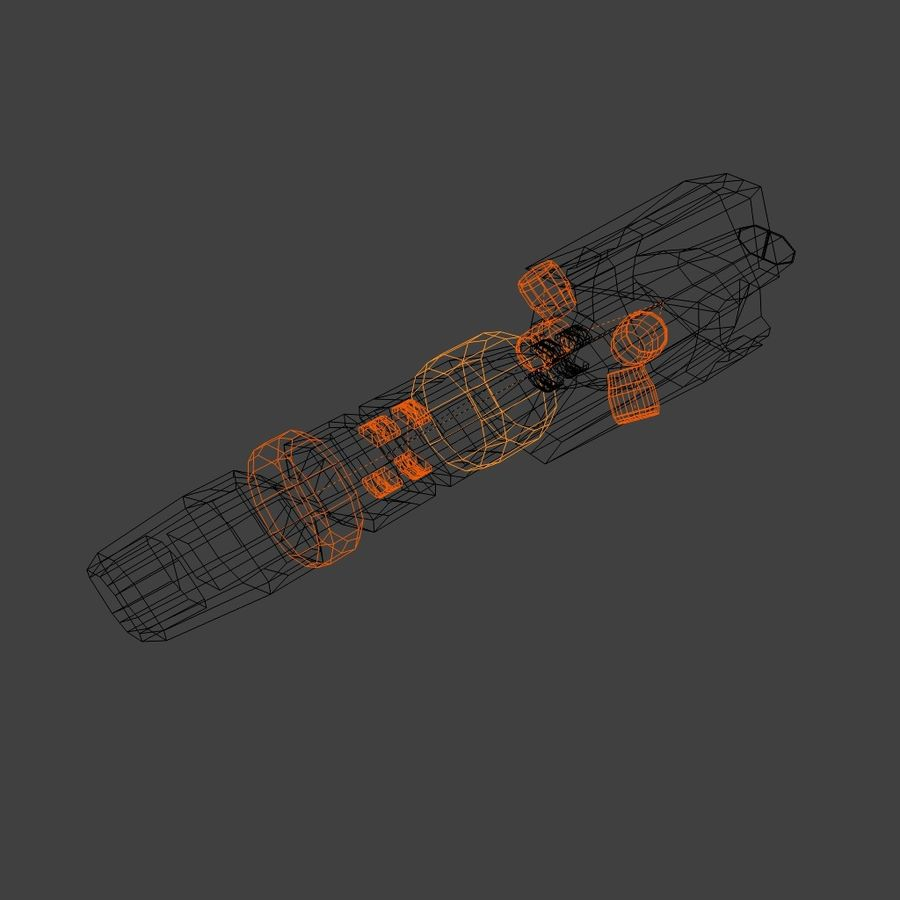 Laser pulse cannon royalty-free 3d model - Preview no. 3