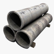 Concrete Pipes 3d model