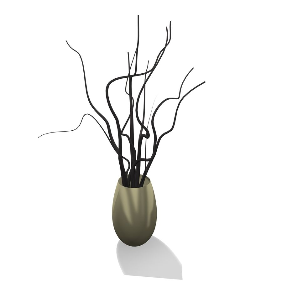 Indoor Plant 1 royalty-free 3d model - Preview no. 4