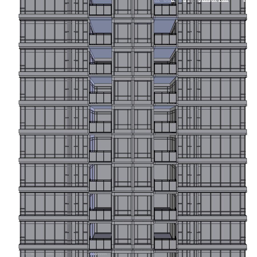 SkyScraper B office block royalty-free 3d model - Preview no. 8
