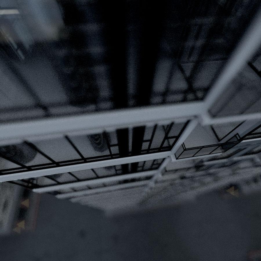 SkyScraper B office block royalty-free 3d model - Preview no. 3