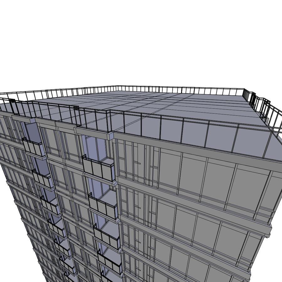 SkyScraper B office block royalty-free 3d model - Preview no. 6