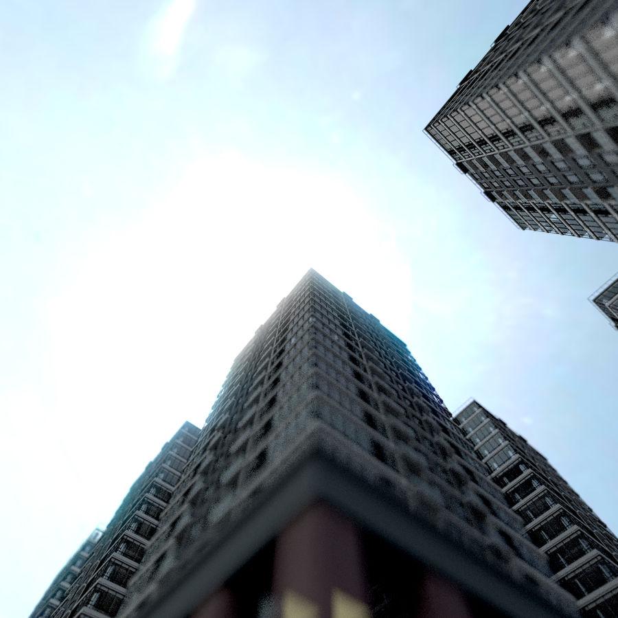SkyScraper B office block royalty-free 3d model - Preview no. 2