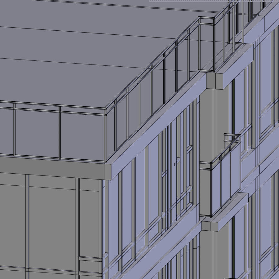 SkyScraper B office block royalty-free 3d model - Preview no. 7