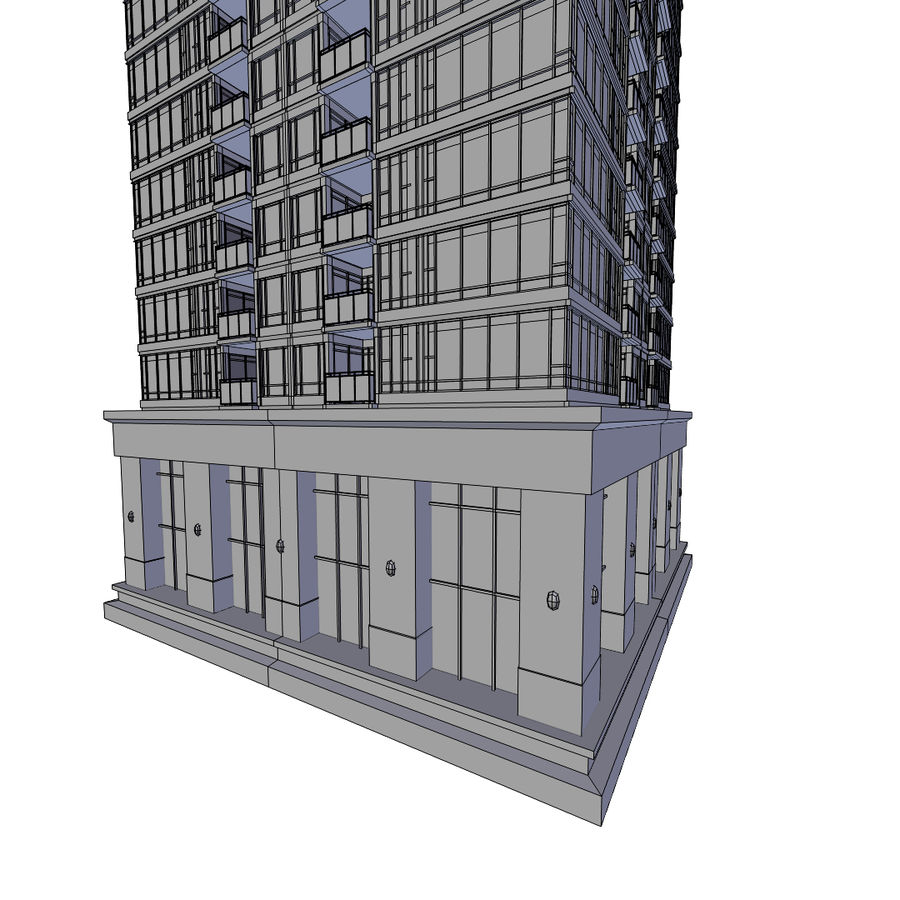 SkyScraper B office block royalty-free 3d model - Preview no. 5