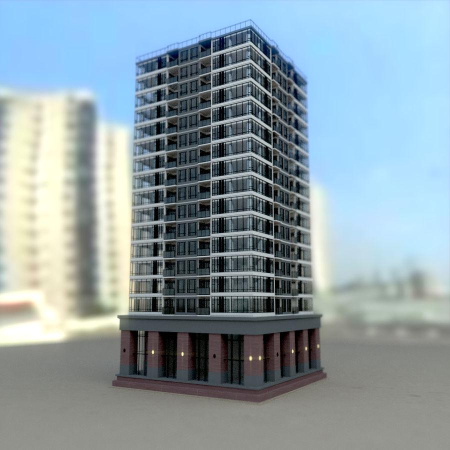 SkyScraper B office block royalty-free 3d model - Preview no. 4