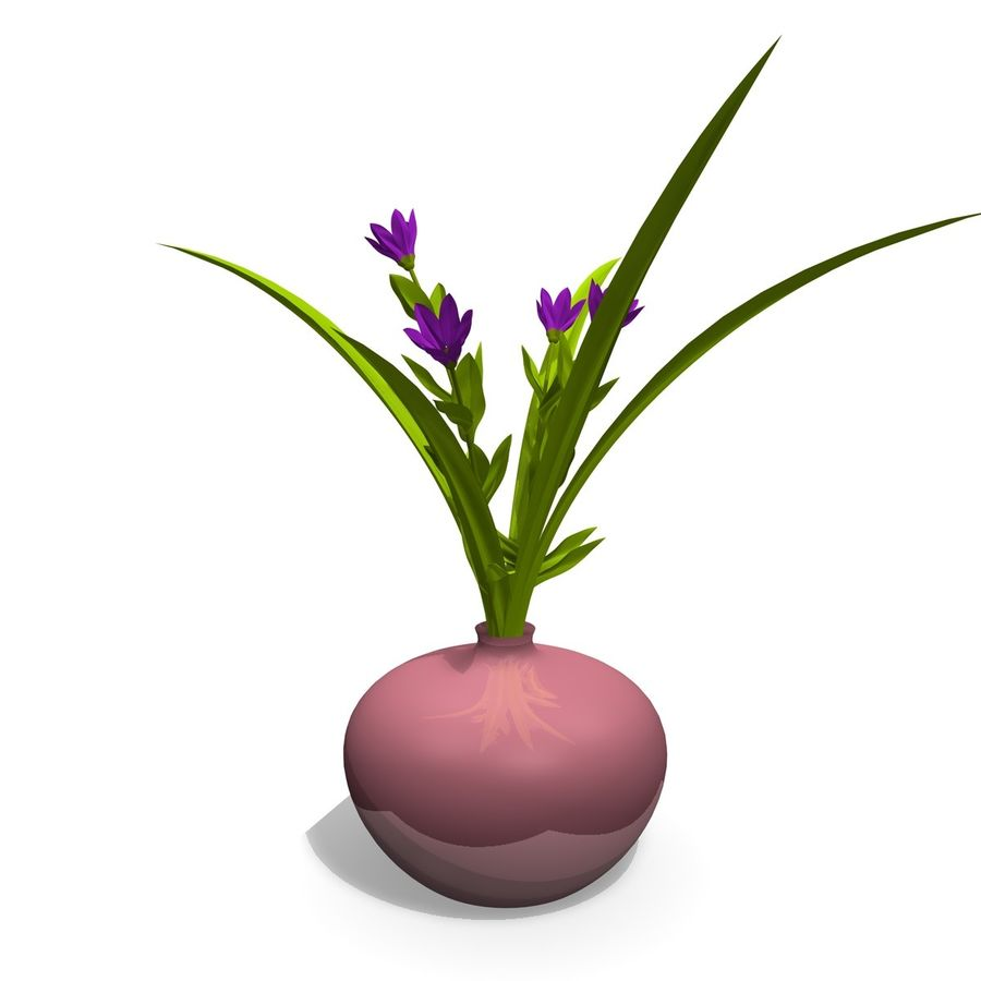 Indoor Plant 3 royalty-free 3d model - Preview no. 2