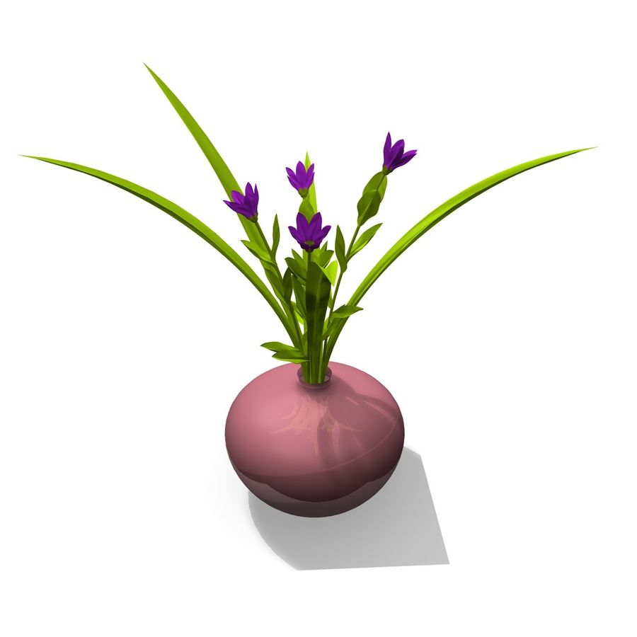 Indoor Plant 3 royalty-free 3d model - Preview no. 4
