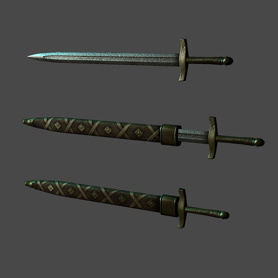 中世の武器 royalty-free 3d model - Preview no. 5