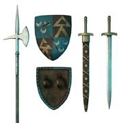 Armes médiévales 3d model