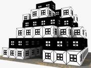 Cartoon Comic House 3d model