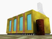 Nowoczesny dom 3d model