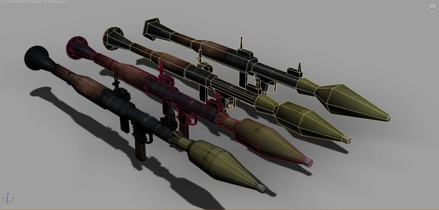 OPFOR RPG 7 royalty-free 3d model - Preview no. 12
