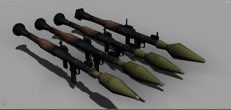 OPFOR RPG 7 royalty-free 3d model - Preview no. 1
