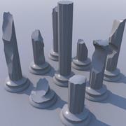 Pilares en ruinas modelo 3d