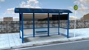 ドイツのバス停 3d model