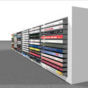 Compact Disc Holder With CDs: C4D Format 3d model