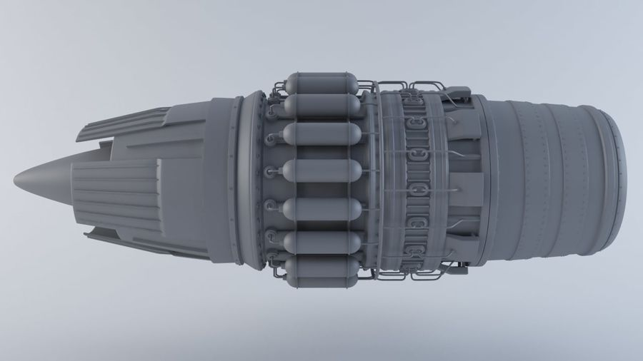 Motor a jato MKVIIC royalty-free 3d model - Preview no. 5