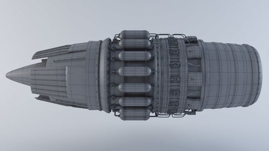 Motor a jato MKVIIC royalty-free 3d model - Preview no. 6