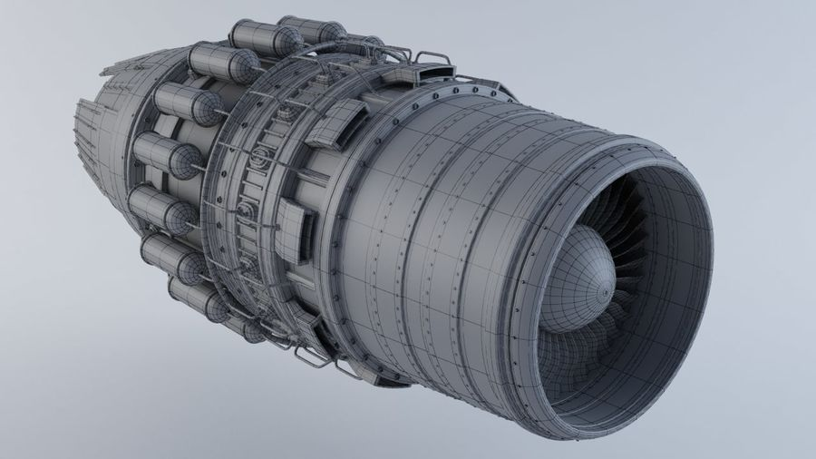 Motor a jato MKVIIC royalty-free 3d model - Preview no. 3