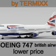 Boeing 747 British Airways 3d model