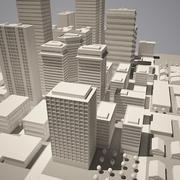 Prosty model miasta A 3d model