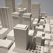 City simple model A 3d model