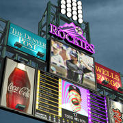 Jumbotron Coors Field 3d model