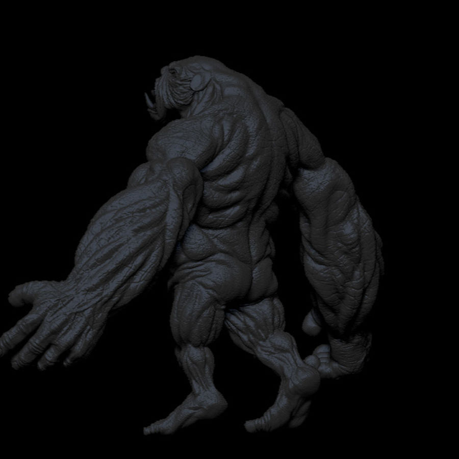 Monster / varelse royalty-free 3d model - Preview no. 7