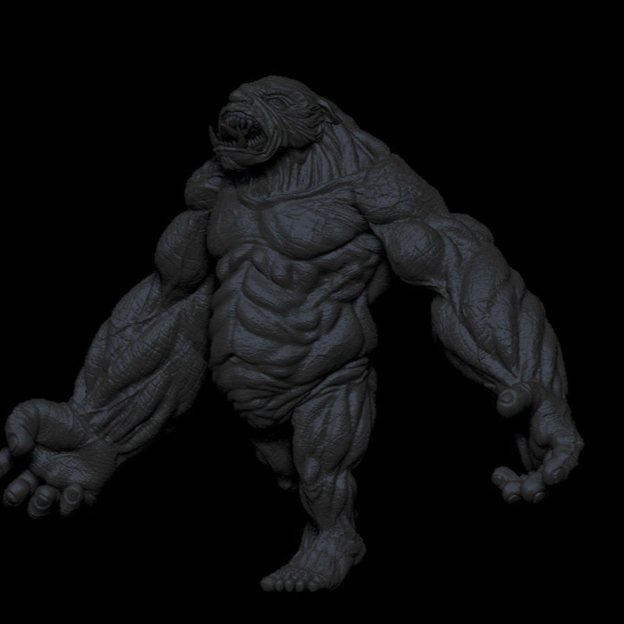 Monster / varelse royalty-free 3d model - Preview no. 6