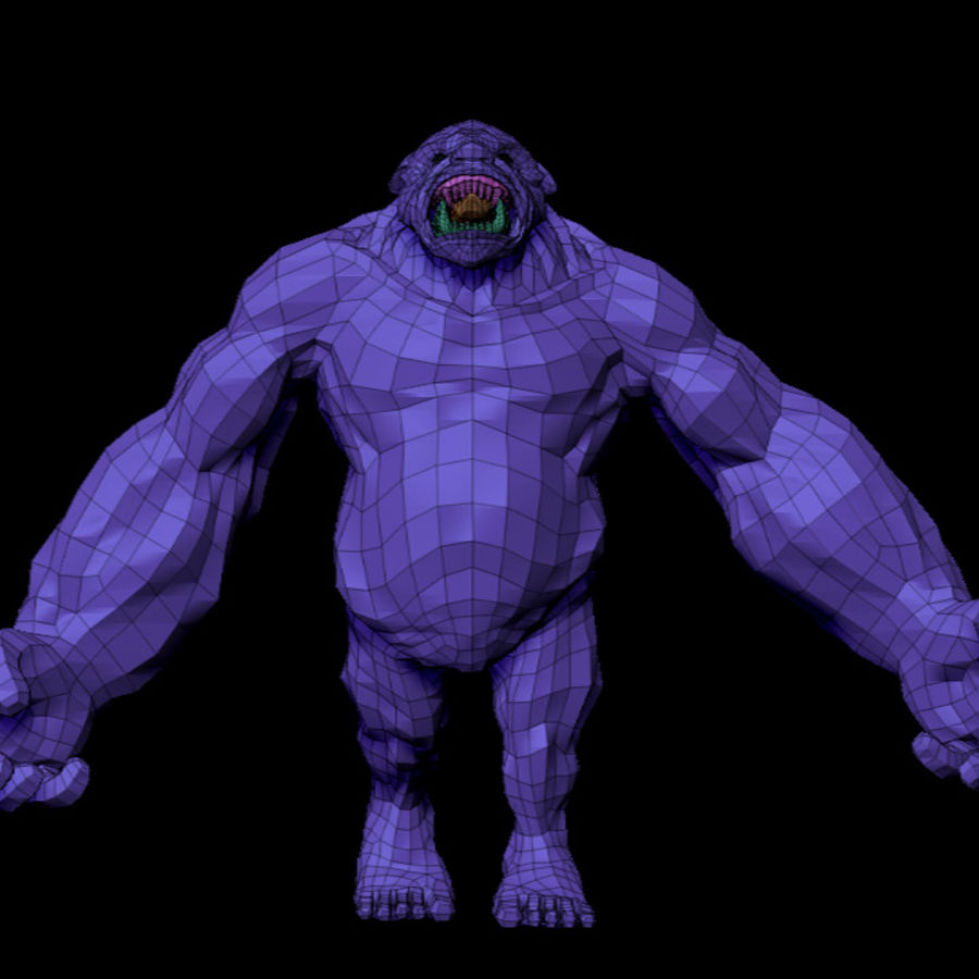 Monster / varelse royalty-free 3d model - Preview no. 9