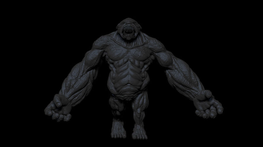 Monster/Creature royalty-free 3d model - Preview no. 5