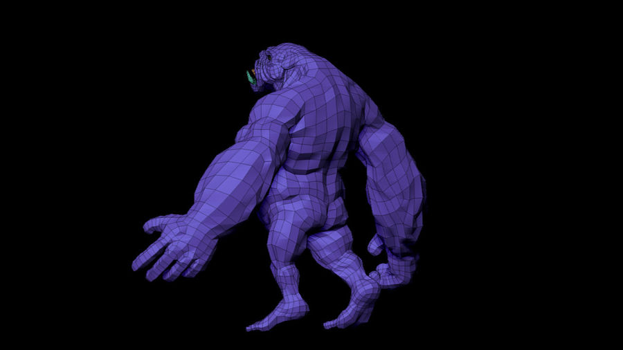 Monster/Creature royalty-free 3d model - Preview no. 11
