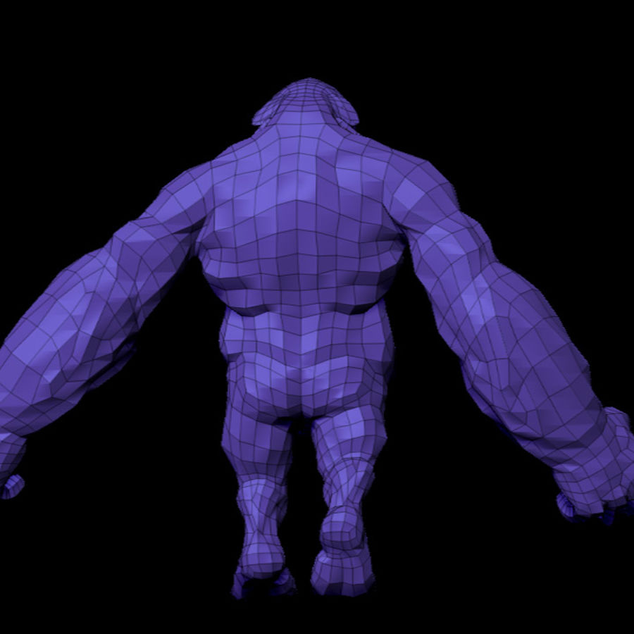 Monster / varelse royalty-free 3d model - Preview no. 12