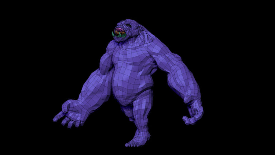 Monster/Creature royalty-free 3d model - Preview no. 10