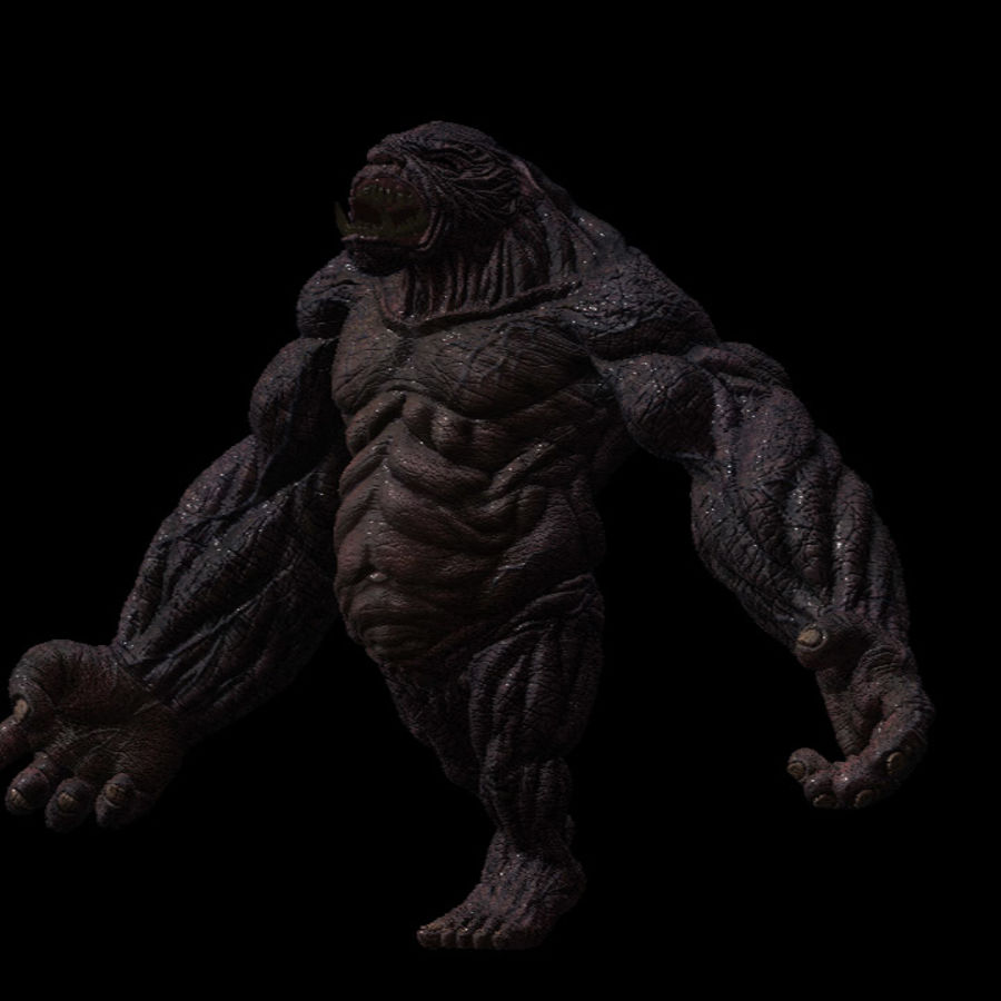 Monster / varelse royalty-free 3d model - Preview no. 2