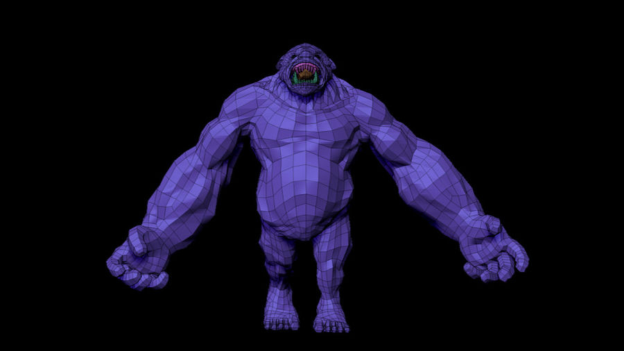 Monster/Creature royalty-free 3d model - Preview no. 7