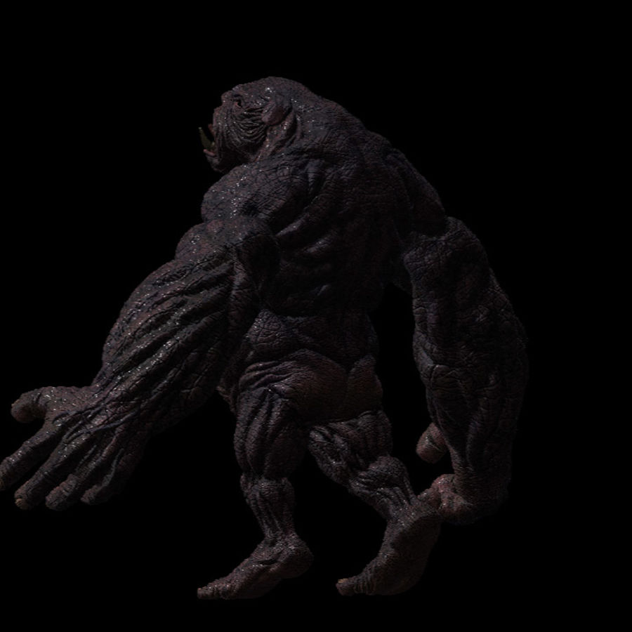 Monster / varelse royalty-free 3d model - Preview no. 3