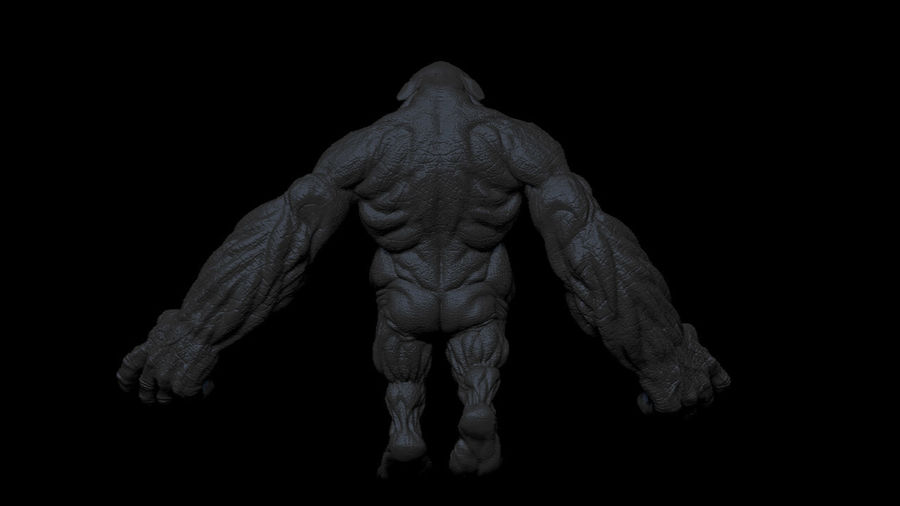 Monster/Creature royalty-free 3d model - Preview no. 6