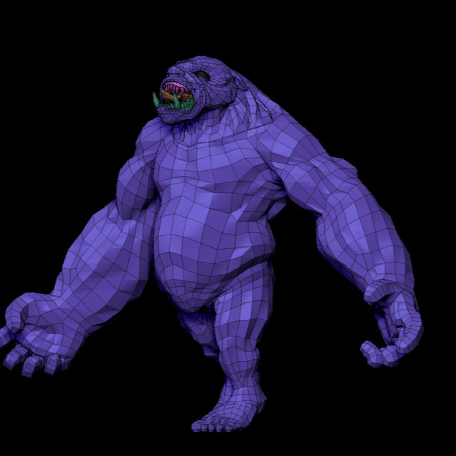 Monster / varelse royalty-free 3d model - Preview no. 10
