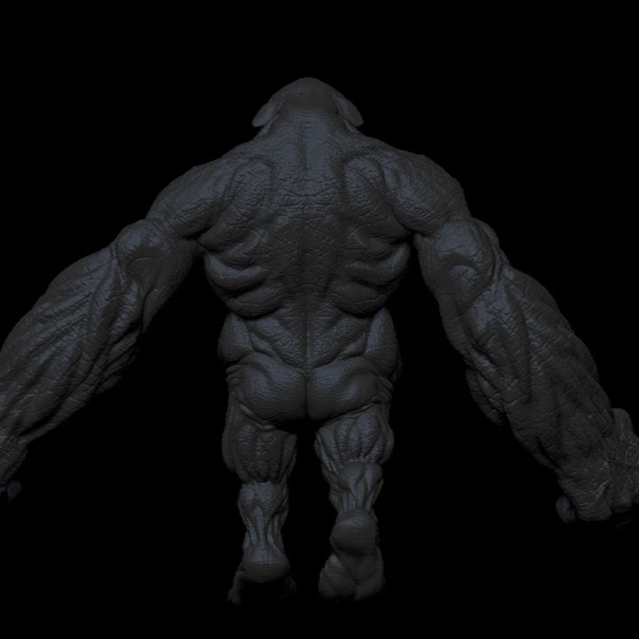 Monster / varelse royalty-free 3d model - Preview no. 8